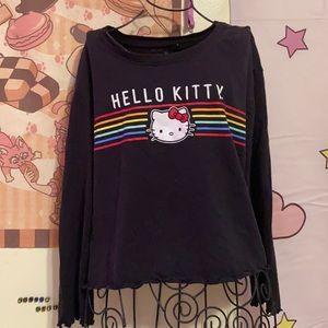 Black Hello Kitty Crop Top